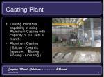 casting plant
