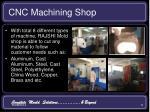 cnc machining shop