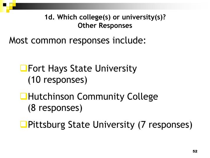 1d. Which college(s) or university(s)?