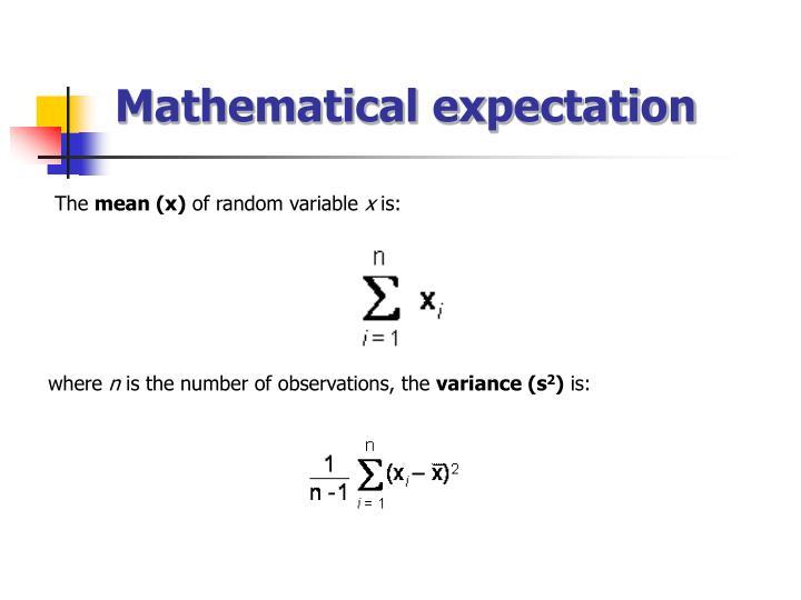 Mathematical expectation