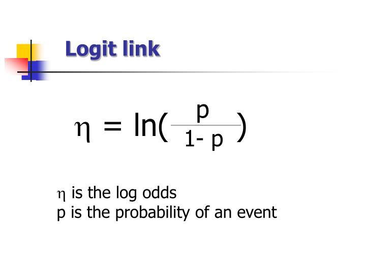 Logit link