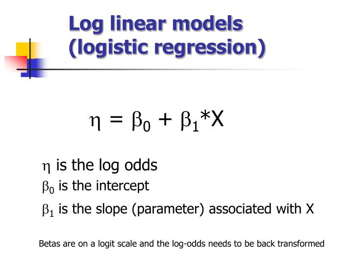 Log linear models