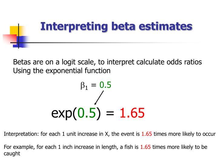 Interpreting beta estimates