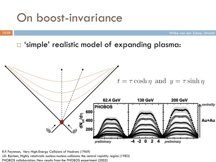 On boost-invariance