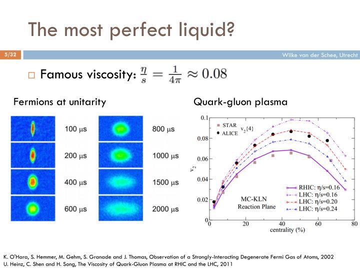The most perfect liquid?