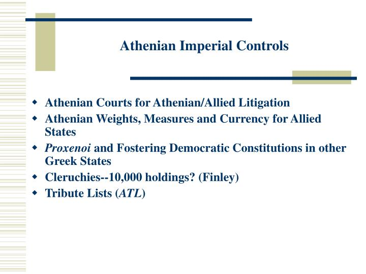 Athenian Imperial Controls