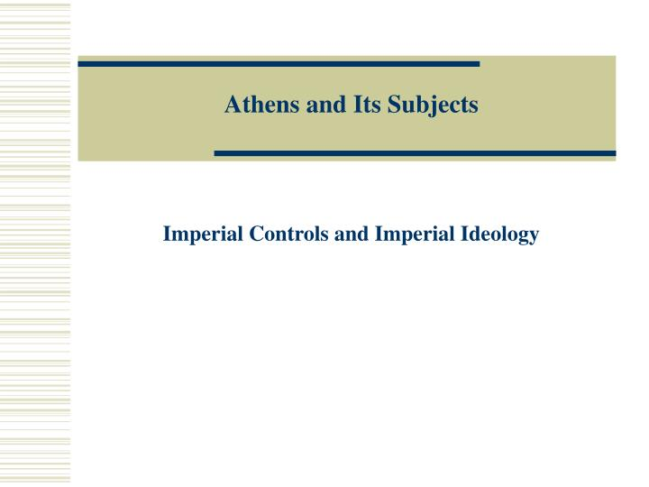 Athens and its subjects