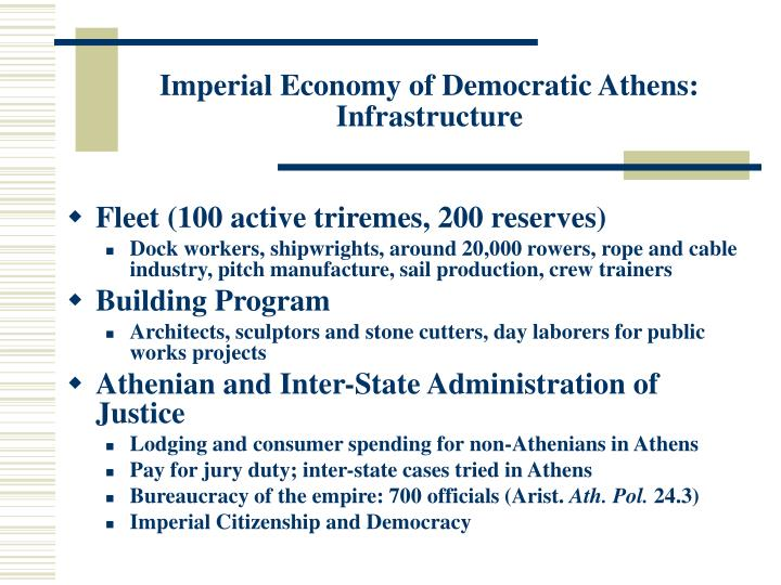 Imperial Economy of Democratic Athens: Infrastructure