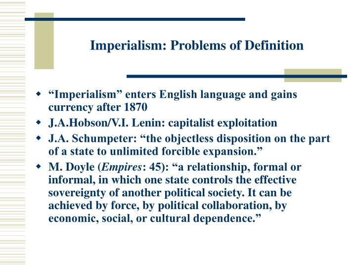 Imperialism problems of definition