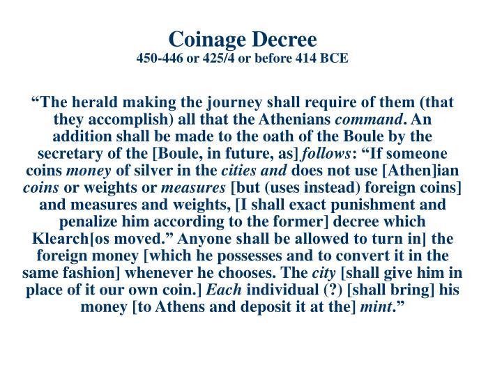 Coinage Decree