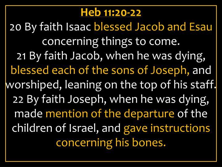Heb 11:20-22