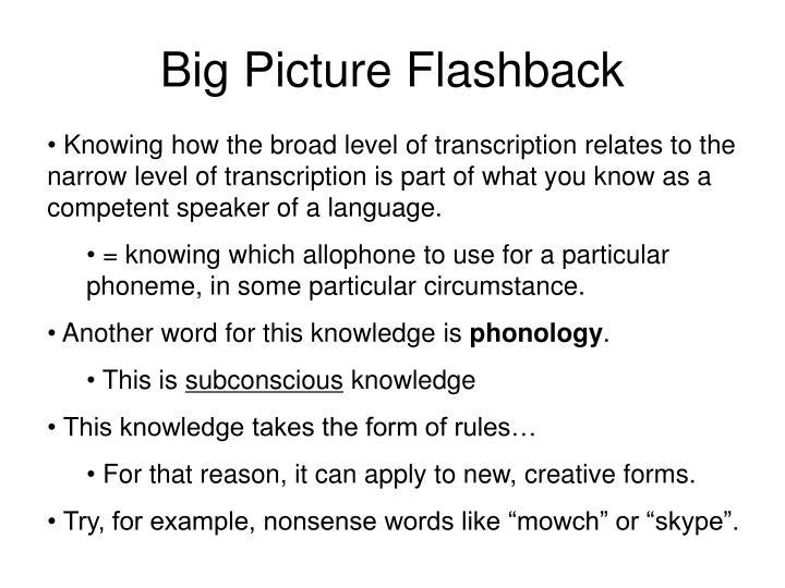 Big Picture Flashback