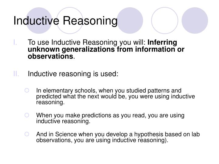 mills inductive reasoning In this video, i discuss mill's methods and a little about to their current relationships with modern statistical techniques and thinking about causation.