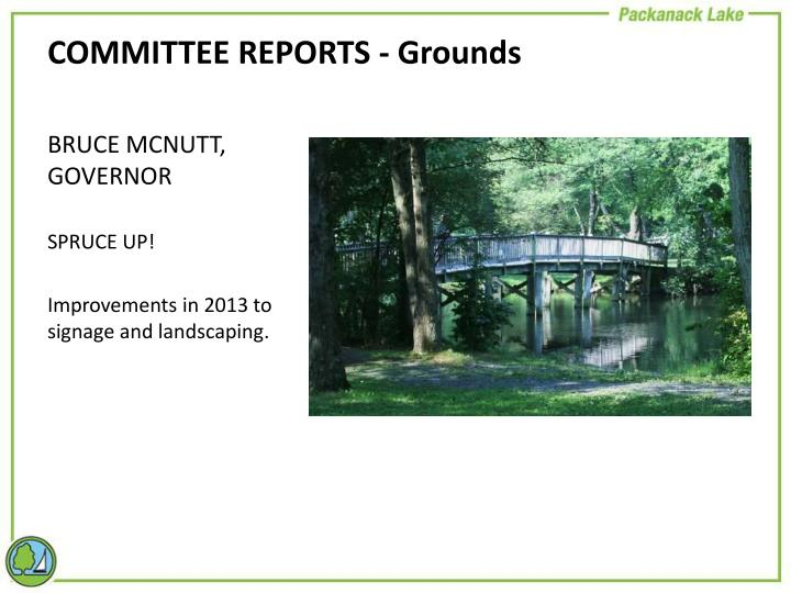 COMMITTEE REPORTS - Grounds