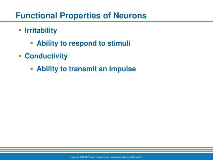 Functional Properties of Neurons