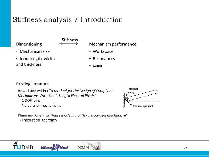 Stiffness analysis / Introduction
