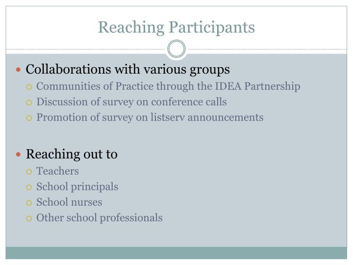 Reaching Participants