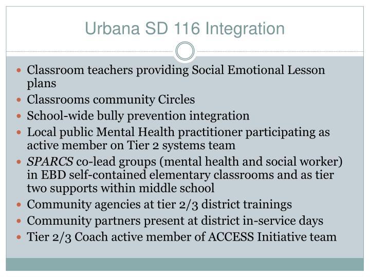 Urbana SD 116 Integration