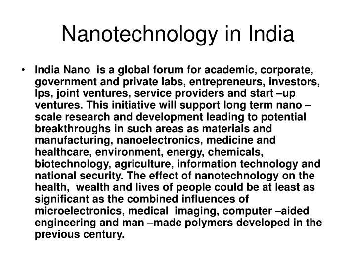 Nanotechnology in India