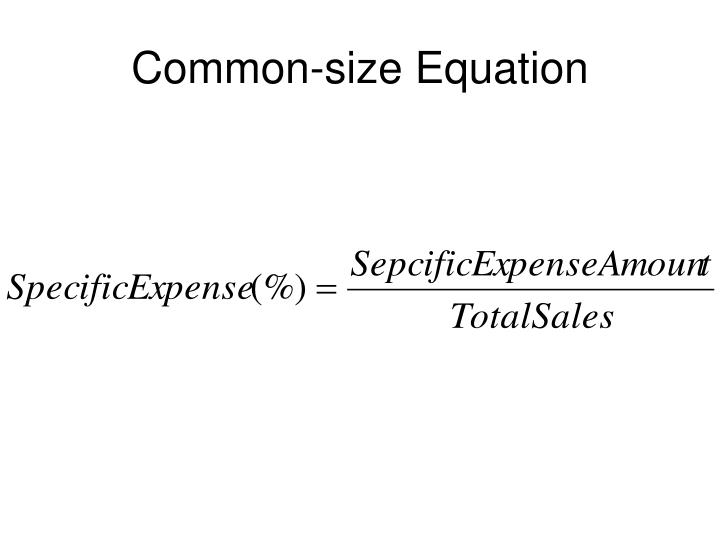 Common-size Equation