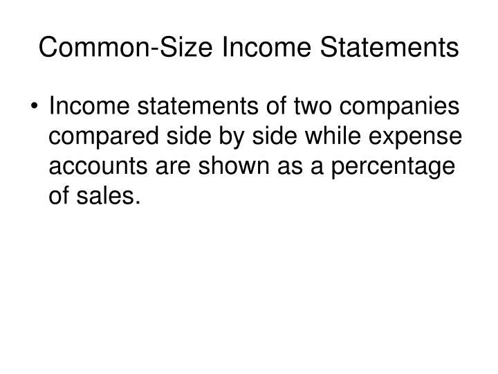 Common-Size Income Statements