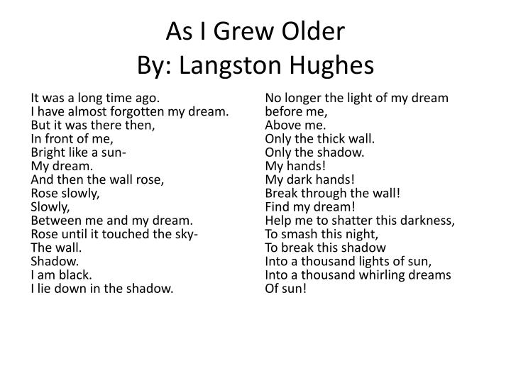 langston hughes poems analysis In a superficial reading of langston hughes's poem harlem (later titled  of  images and ideas which unite to convey the meaning of the poem (thrall 473.