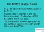 the state s budget crisis
