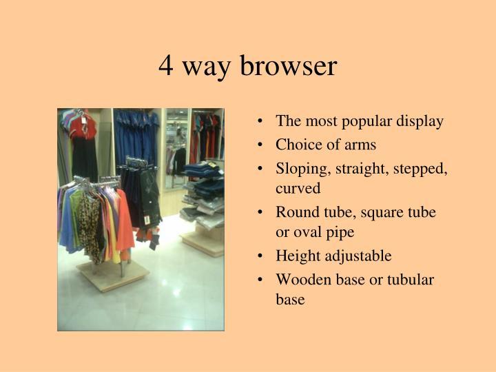 4 way browser