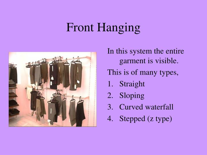 Front Hanging