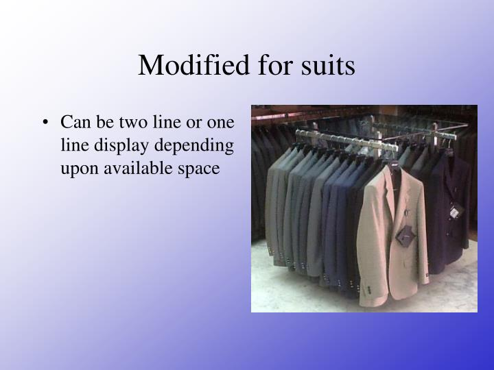 Modified for suits