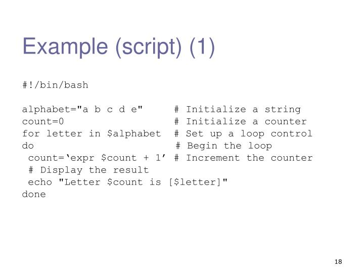 PPT - Shell Script Examples PowerPoint Presentation - ID:3118146