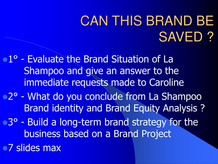can this brand be saved n.