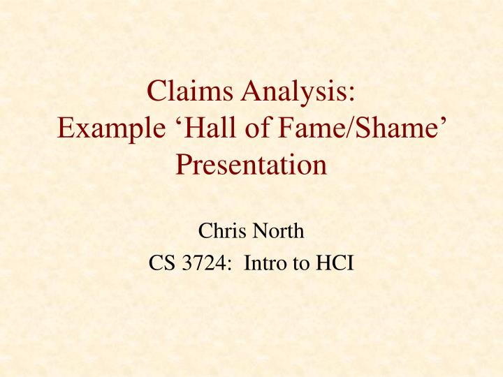 claims analysis example hall of fame shame presentation n.