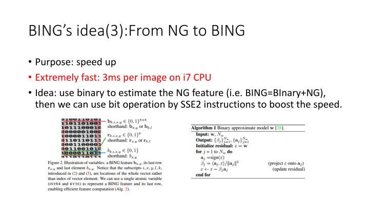 BING's idea(3):