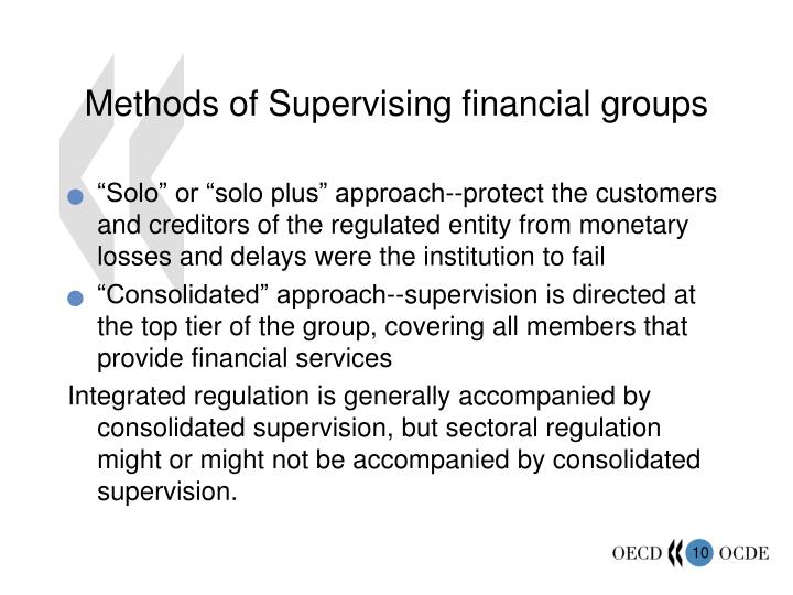 Methods of Supervising financial groups