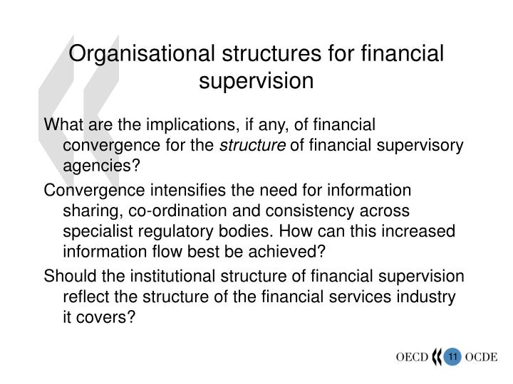 Organisational structures for financial supervision
