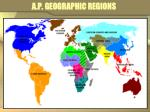 a p geographic regions