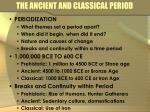 the ancient and classical period