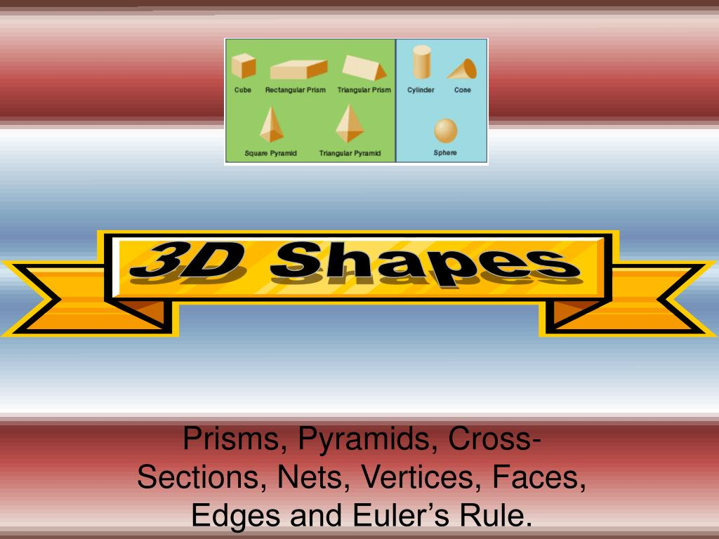 PPT - Prisms, Pyramids, Cross-Sections, Nets, Vertices