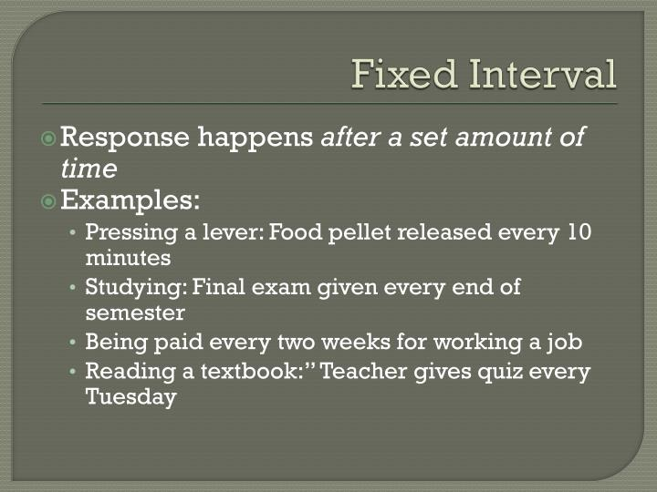 Fixed Interval