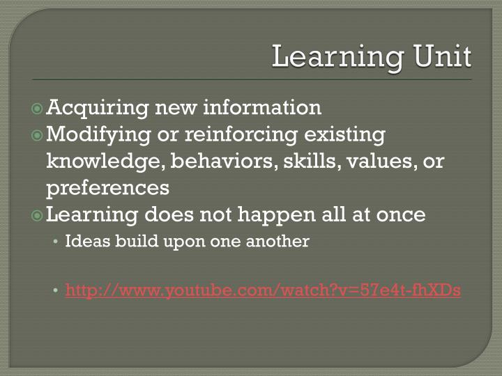 Learning unit