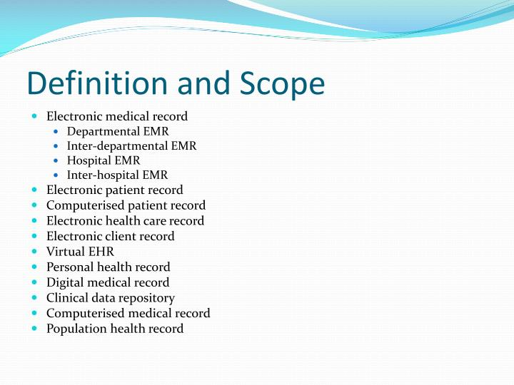 Emr Medical Definition