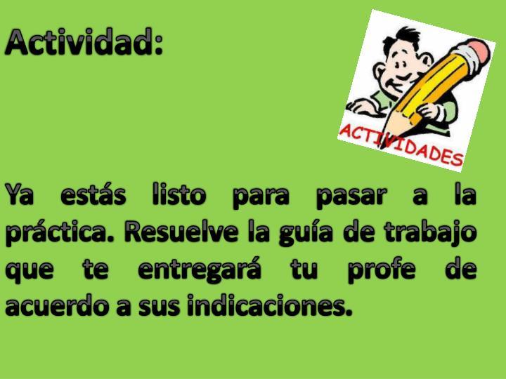 Actividad: