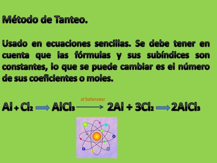 Método de Tanteo.
