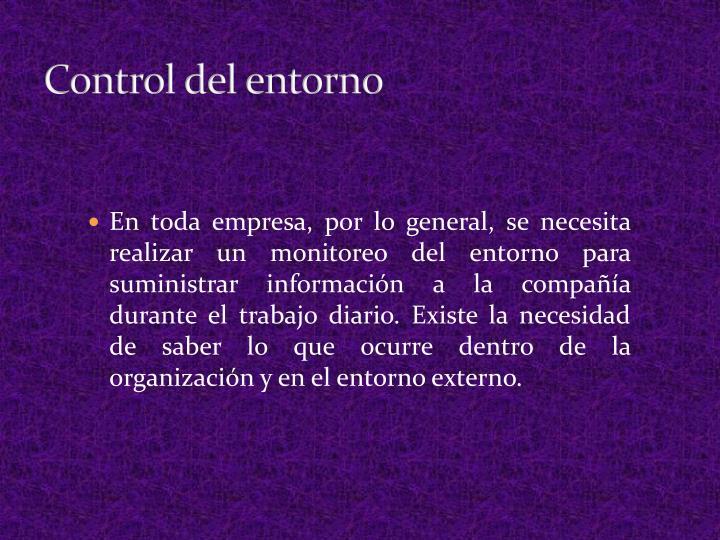 Control del entorno