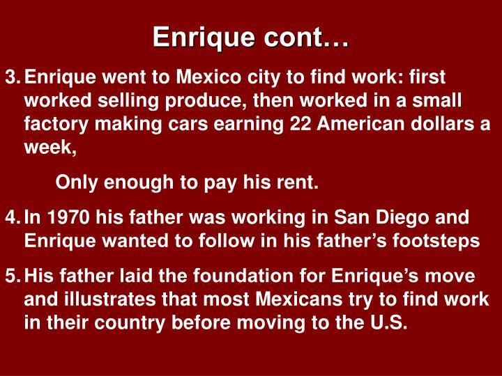 Enrique cont…