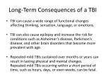 long term consequences of a tbi