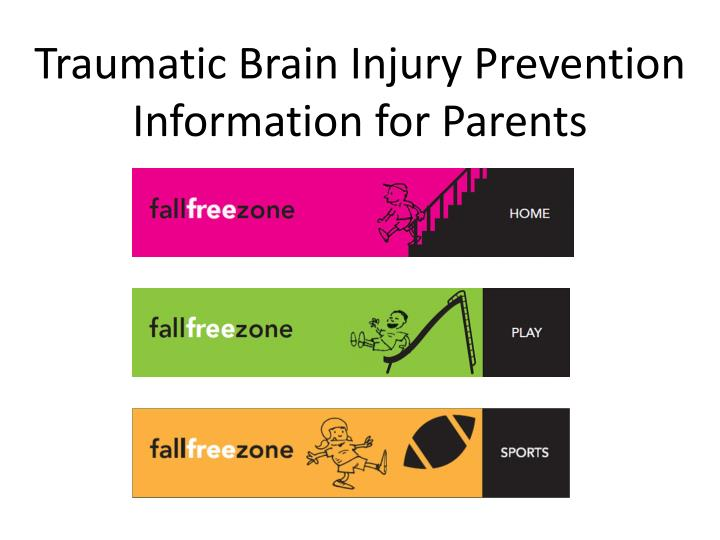 traumatic brain injury prevention information for parents n.