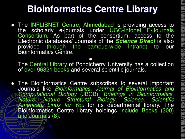 Bioinformatics Centre Library