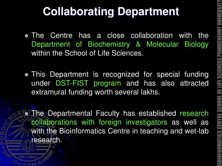 Collaborating Department
